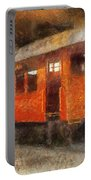 Railroad Gary Flyer Photo Art 02 Portable Battery Charger