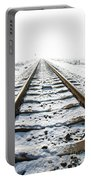 Railroad In Snow Portable Battery Charger