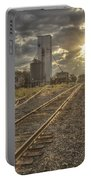Railroad Sunrise Portable Battery Charger
