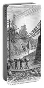 Railroad Washout, 1885 Portable Battery Charger