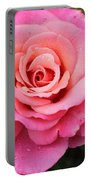 Rain Drenched Rose Portable Battery Charger