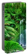 Rain Forest And Waterfall Portable Battery Charger