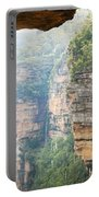 Rain In Mountains Portable Battery Charger