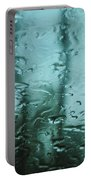 Rain On Bare Trees Portable Battery Charger