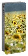 Rain On The Sunflowers Portable Battery Charger
