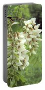 Rain-spangled Locust Flowers Portable Battery Charger