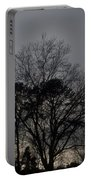 Rain Storm Clouds And Trees Portable Battery Charger
