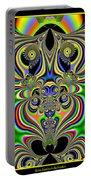 Rainbow Alien Owls Fractal 57 Portable Battery Charger