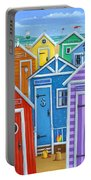 Rainbow Beach Huts Portable Battery Charger
