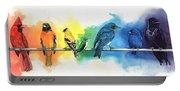 Rainbow Birds Portable Battery Charger
