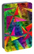 Rainbow Bliss - Pin Wheels - Painterly - Abstract - H Portable Battery Charger