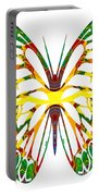 Rainbow Butterfly Abstract Nature Artwork Portable Battery Charger