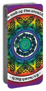 Rainbow Celtic Butterfly Mandala Portable Battery Charger