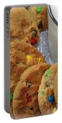 Rainbow Cookies And Milk - Food Art - Kitchen Portable Battery Charger