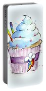 Rainbow-dash-themed Cupcake Portable Battery Charger
