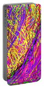 Rainbow Divine Fire Light Portable Battery Charger by Daina White