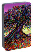 Rainbow Dreams And Falling Leaves Portable Battery Charger