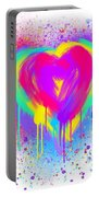 Rainbow Heart Portable Battery Charger
