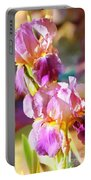 Rainbow Irises Portable Battery Charger
