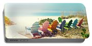 Rainbow Of Adirondack Chairs IIII Portable Battery Charger