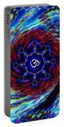 Rainbow Om Fractal Swirl Portable Battery Charger