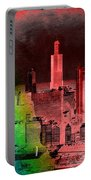 Rainbow On Chicago Mixed Media Textured Portable Battery Charger