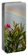 Rainbow Over Flower Portable Battery Charger