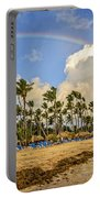 Rainbow Over The Beach Portable Battery Charger