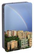 Rainbow Over The Town Portable Battery Charger
