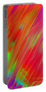 Rainbow Passion Abstract Upper Right Portable Battery Charger