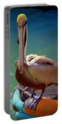 Rainbow Pelican Portable Battery Charger by Karen Wiles