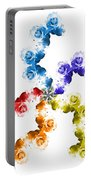 Rainbow Roses In White Portable Battery Charger