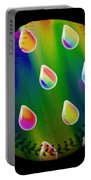 Rainbow Showers Baseball Square Portable Battery Charger