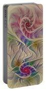 Rainbow Spirals Portable Battery Charger
