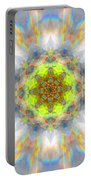 Rainbow Starburst Mandala Portable Battery Charger