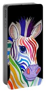 Rainbow Striped Zebra 2 Portable Battery Charger