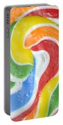Rainbow Swirl Portable Battery Charger