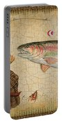 Rainbow Trout-basket Weave Portable Battery Charger