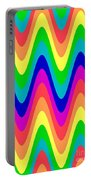 Rainbow Waves Portable Battery Charger