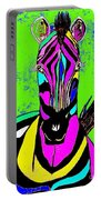 Rainbow Zebra 2 Abstract Portable Battery Charger