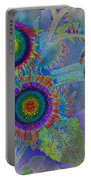 Rainbows In Flowers  Portable Battery Charger