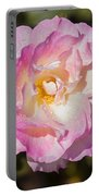 Raindrops On Rose Petals Portable Battery Charger