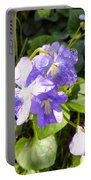 Raindrops On Violets Portable Battery Charger