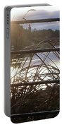 Raindrops To River Sunrise Portable Battery Charger