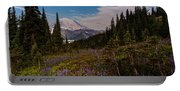 Rainier Tipsoo Wildflowers Portable Battery Charger
