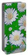 Raining White Flower Power Portable Battery Charger
