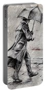 Rainy Day #07 Drawing Portable Battery Charger by Emerico Imre Toth