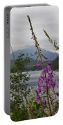 Rainy Day Fireweed Portable Battery Charger
