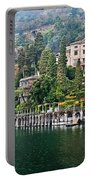 Rainy Day In Como Portable Battery Charger
