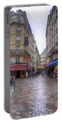 Rainy Day In Paris Portable Battery Charger